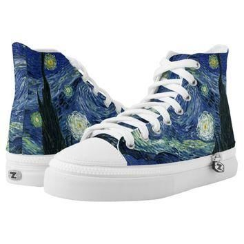 Starry Night Vincent van Gogh Fine Art Painting Printed Shoes