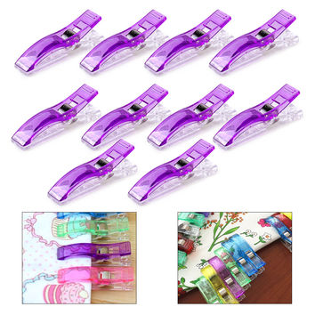 10pcs Plastic Wonder Sewing Clips Clamps Holder Fabric Cloth Patchwork Sewing Quilting Knitting Binding Craft Crochet Tools