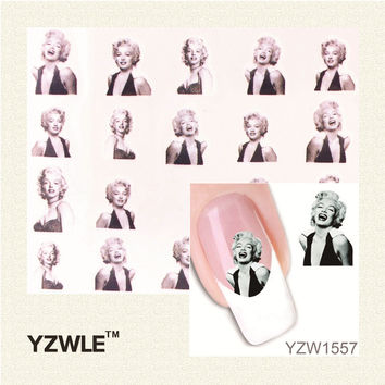 Marilyn Water Transfer Nail Art Stickers Decal