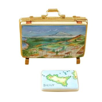 Sicily Europe Italy Limoges Porcelain Box Travel