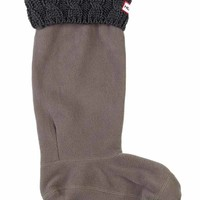 Cable Cuff Welly Sock | Hunter Boot Ltd