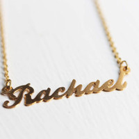 Vintage Name Necklace - Rachael