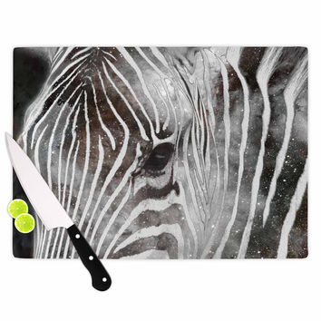 "Suzanne Carter ""Space Zebra"" Celestial Stripes Cutting Board"