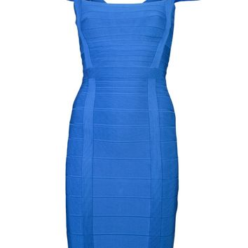 Hervé Léger Cap Sleeve Dress