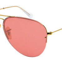 Ray-Ban RB3460 001/84 59-13 AVIATOR FLIP OUT Gold sunglasses   Official Online Store US