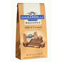 Ghirardelli Milk Chocolate Squares with Caramel Filling 5-Ounce Bags: