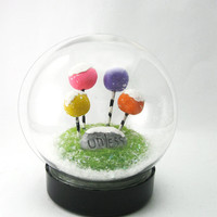 Lorax Inspired Snow globe, Christmas Decoration, Personalization Ornament Gift