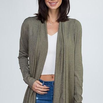 On The Ball Cardigan - Olive