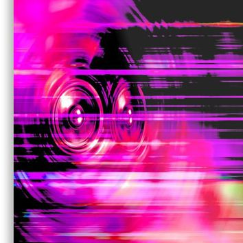 'Purple music speakers' Metal Print by steveball