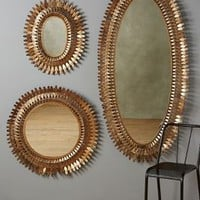 Sundial Mirror by Anthropologie