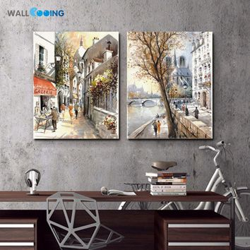 Print street painting pop art canvas painting High quality cheap Art Photos for Hotel Restaurant Cafe kitchen wall decor picture