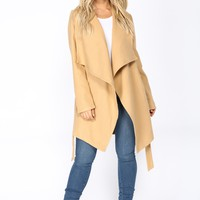 Manhattan City Coat - Cognac
