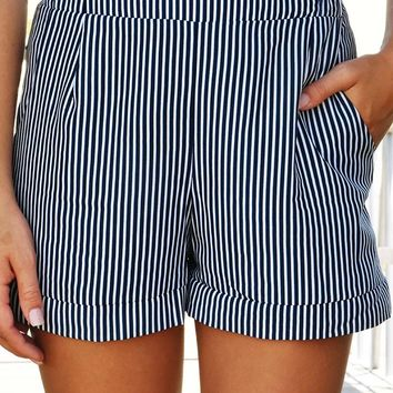 Along The Open Sea Shorts: Navy/White
