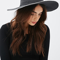 Wide-Brim Canvas Fedora