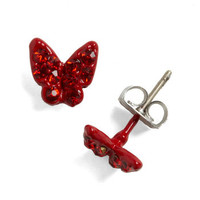 Butterfly Garnet Earrings | Mod Retro Vintage Earrings | ModCloth.com