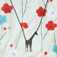 wide open plains giraffe necklace - $12.99 : ShopRuche.com, Vintage Inspired Clothing, Affordable Clothes, Eco friendly Fashion