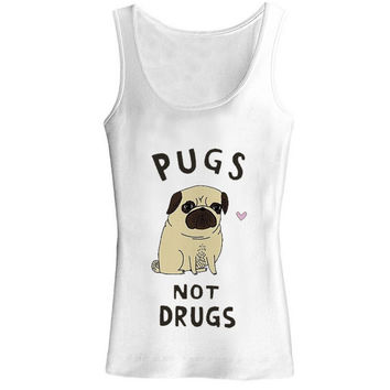 pugs not drugs for tank top