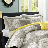 Bella Medallion Grey Comforter Set