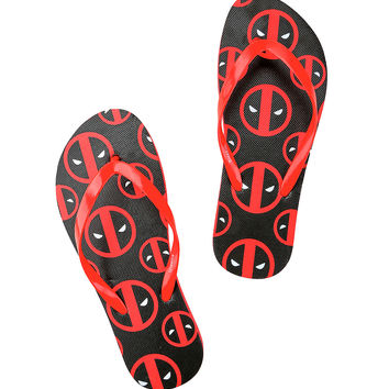 Marvel Deadpool Girls Flip Flops