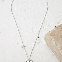 Etched Compass Charm Necklace