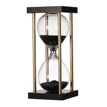 Hand-crafted MDF Hourglass in Stand