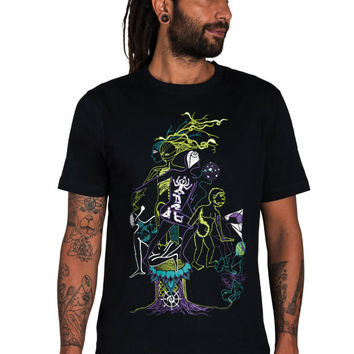 Dmt T shirt- Evolution T shirt- Science Shirt- Space T shirt- Anatomical-Chemical formula- Ape- Monkey- Visions- Masks-Anatomy