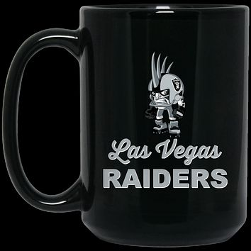 Las Vegas Raiders Mini Player v2 BM15OZ 15 oz. Black Mug