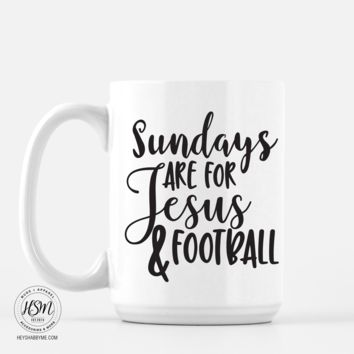 Sundays, Jesus, Football - Mug