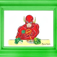 A4 Print. Flash Print. Superhero wall art. De-stereotyped Heroes