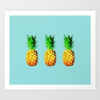 Fresh pineapples  Art Print by Yilan