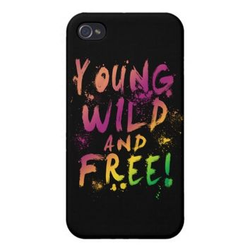Young, Wild and Free! Expressive iPhone 4/4S Case