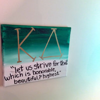 Kappa Delta Green and White Ombre