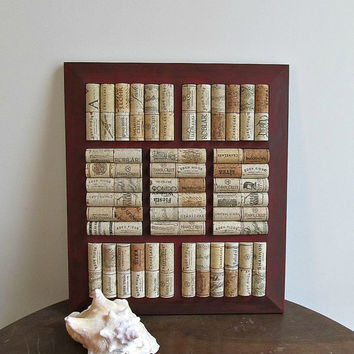 Red Chalk Paint Wine Cork Board / Trivet / Display Tray - Rustic, Country, Farmhouse, Shabby Cottage Chic Decor