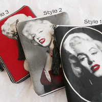 Marilyn Monroe Clutch-Hollywood Icon Clutch-Cosmetics Bag-Tassel Clutch-Vintage Clutch.