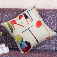 English alphabet, decorative pillows for home decor