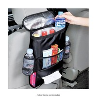 Car Back Seat Organizer with Insulated Cooler Pocket