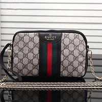 Gucci  Shopping Leather Satchel Shoulder Bag Handbag Crossbody