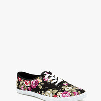 Marsden-01 Floral Lace Up Canvas Sneaker