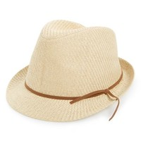 Junior Women's BP. Woven Straw Fedora