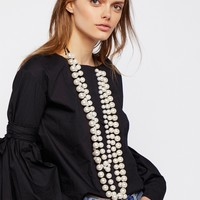 Free People Selene Statement Pearl Necklace