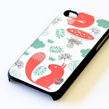 Woodland iPhone Case - Squirrel Fox Mushroom