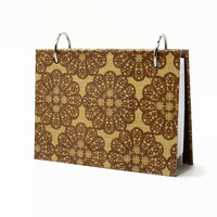 3 x 5 index card binder, brown crochet doilies on burlap, daily journal with a set of index card dividers, writing journal gift for mom