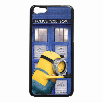 minion despicable me doctor who tardis design 8d07d382-a0b6-4c82-853f-e2901f4e1c83 FOR iPhone 5C CASE *NP*