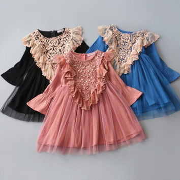 "The ""Adalyn"" Vintage Inspired Girls Dress"