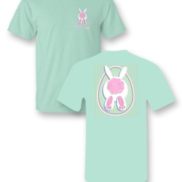 """Sassy Frass Tee YOUTH """"Glitter tail bunny"""" on Comfort Color Tee"""