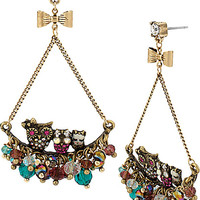 BetseyJohnson.com - ENCHANTED OWL CHERRY EARRING MULTI