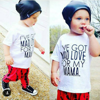 Summer fashion Casual Boys Clothes Sets T-shirt + Pants