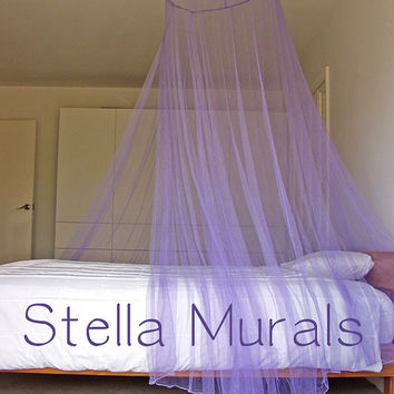 Glow in the Dark Stella Murals Star Canopy - LILAC - Surround your bed with stars! - Clearance