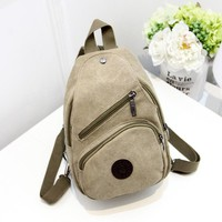 RU&BR New Style Women Backpack Female Fashion Canvas Backpack Multifunction Solid Color Ladies Small Travel Bag Backpack Man