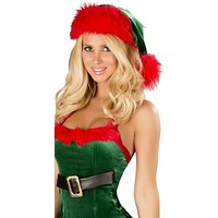 Sexy Faux Fur Stretch Velvet Santas Helper Girl